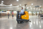 The TASKI Twister twins Diversey's award-winning range of TASKI scrubber driers with HTC's acclaimed floor pads.